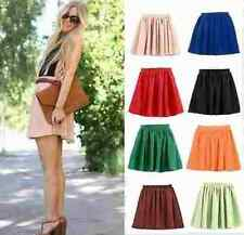 LATEST FASHIONABLE WOMEN MINI PLAIN CHIFON SHORT MINI SKIRT 8 10,12,14-SIZE #m06