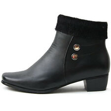 New Classic Womens Comfort Heels Winter Snow Warm Ankle Boots Black Novamall