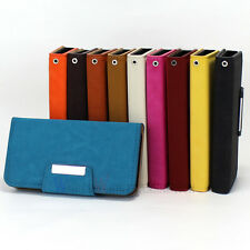 New Leather Flip Wallet Handbag Matte Stand Magnetic Case Cover For iPhone 4G 4S