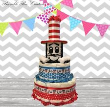 Dr Seuss, Cat in the Hat,Thing 1 Thing 2 Diaper Cake Centerpiece/Baby Shower