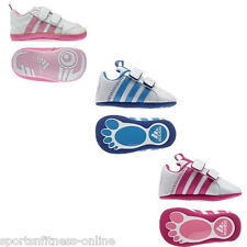 New Adidas Babies soft crib shoes baby boys girls Trainers pram Shoes White