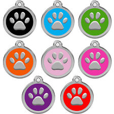 Personalized Engraved Designers Paw Shape Pet Tag dog tag cat tag by CNATTAGS