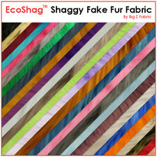 "SOLID SHAGGY FAUX FUR FABRIC - 15 COLORS - 60"" Width Sold By The Yard/Long Pile"