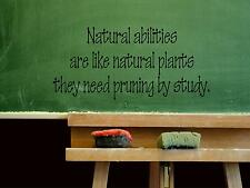 Wall Sticker NATURAL ABILITIES ARE LIKE NATURAL PLANT Quote Vinyl Decal EN-85-C4