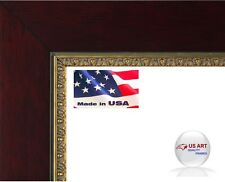 Flat cherry with gold embossed lip 1.3/8 inch solid wood Picture Poster Frame