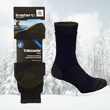 Brasher Men's Trekmaster 4 Season Merino Wool Coolmax Hiking Walking Socks - New