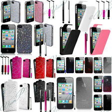 Lot Accessoires Housses Coque Etui Strass Simili Cuir PU TPU S Apple Iphone 4 4S