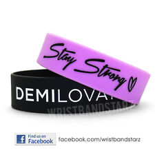 STAY STRONG DEMI LOVATO WRISTBAND BRACELET HEART - WIDE BAND