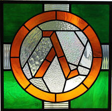 Half Life Lambda Logo Valve Stained Glass Vinyl Sticker (window, phone, bumper)