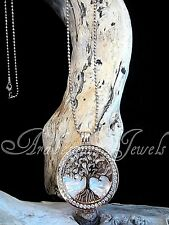 STUNNING MI MILANO NECKLACE/PENDANT/CARRIER SET/TREE OF LIFE/PEARL COINS/MONEDA