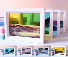 ABS Moving sand glass picture photo frame ornament home decor birthday xmas gift