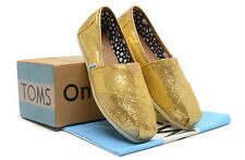 Authentic Toms Gold Women's Glitter Classics  US Size