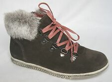 BNIB Clarks Girls Dana Cherub Grey Suede Boots F & G Fitting