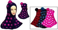 Wholesale Lot 4Pcs Winter Cap/Poncho Combo With Pompom - For Infants (#EWCK4205)