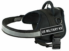 DT Works Dog Harness Nylon with Velcro Patches US MILITARY K9