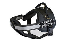 DT Works Chest Support Dog Harness with Velcro Patches FORENSIC SEARCH DOG