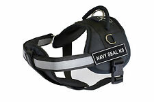DT Works Chest Support Dog Harness with Velcro Patches NAVY SEAL K9