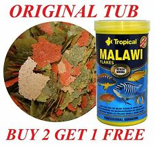 *BUY 2 GET 1 FREE*MALAWI MBUNA SPECIAL VEGETABLE HIGH PROTEIN FLAKE FOR CICHLID
