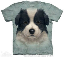 Border Collie Puppy Dog The Mountain Adult & Child Size T-Shirts