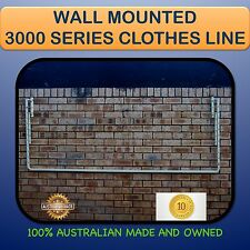 CLOTHESLINE WALL MOUNTED Australian made 3000mm X 900mm fold down clothes line