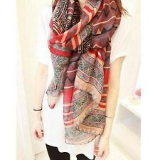 Gorgeous Aztec Pattern Geometric Striped Scarf/Wrap/Shawl in Pink or Blue