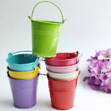 10X Multicolor Tin Pails Mini Bucket Boxes Wedding Favor Buffet Candy Box