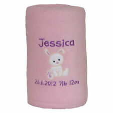 Personalised Baby Blanket - Christening/New Baby Girl/Boy/Baby Shower/Birth Gift