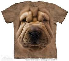 Big Face Shar Pei Puppy Dog The Mountain Adult & Child Size T-Shirts