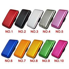 Beauty Business ID Credit Cards Holder Wallet Pocket Case Aluminum Metal Stripe