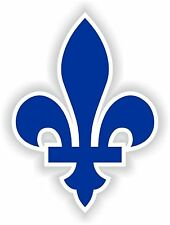 Quebec Fleur de Lys Canada Logo Vinyl Sticker (bumper, phone, window, xbox, ps4)