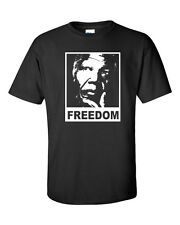 NELSON MANDELA Freedom RIP SOUTH AFRICA PEACE WHITE PRINT Karma Men's Tee Shirt