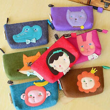 Lady Cartoon Animal Coin Cosmetic Purse Phone Card Holder Pouch Wallet Key Bag