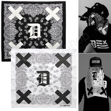 New Dope #99 DX Paisley Print Graphic Bandana Handkerchief Neckerchief Black