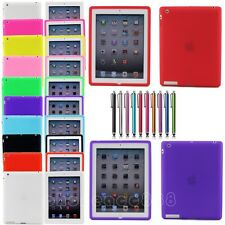 Silicone TPU Gel Snap On Back Case Cover Skin For New iPad 4 3 2 Gen Multi-Color