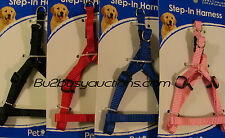 Pet Inc Harness Set SMALL Dog Nylon Red Pink Black Blue Low Cost