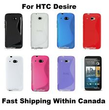 Case Cover HTC Desire 601 TPU Silicone Rubber Soft + Screen Protector