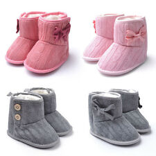 New Lovely Toddler Booties Soft Sole Baby Boots Comfortable Crib Infant Shoes