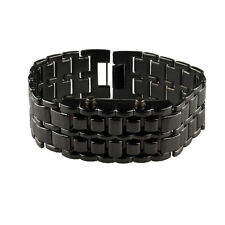 Volcanic Lava Iron Samurai Metal Faceless Bracelet Fashion Sport LED Wrist Watch