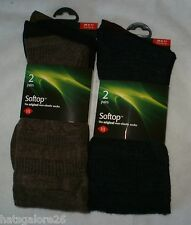 MENS SOCKS SOFTOP SOCKS NON ELASTIC HJ HALL QUALITY 2 PAIR PACK 6-11 EUR 39-46