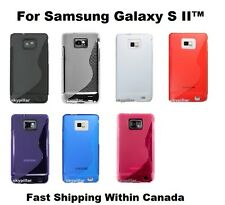TPU S Shape Soft Back Case Cover Samsung Galaxy S II S2 GT-I9100M