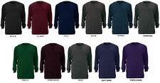 ESPIONAGE COTTON CREW NECK LONG SLEEVED TEE SHIRT SIZE 2XL TO 8XL, 9 COLORS