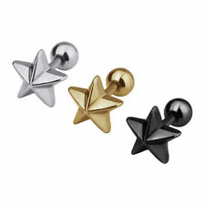 1pc New Stainless Steel Star Tragus Cartilage Ear Stud Earring Body Piercing