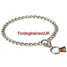 Choke Chain Dog Collars Herm Sprenger Stainless Steel | 3mm Chain Dog Collars