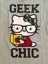 Girls Hello Kitty Geek Chic T-shirt Size 4 5 6 6X 7 8 10 12 14 16 New With Tags