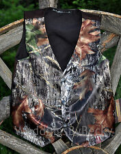 NEW SATIN Camo Wedding Vest/CHILD's Custom made-start $34- Sizes-12m to 14