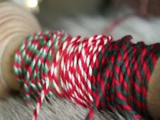 Baker's Twine Ribbon, Thin Cord Twisted Ribbon, Red Twine, 3 metres, 3mm wide,