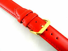 Stitched Red Padded Leather Watch Strap - Free UK 1st Class P&P        730