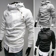 PJ Warm Mens Zip Handsome Slim Coat Jacket Hoodie Casual Outerwear S~XL