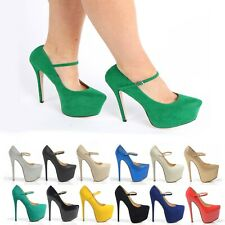 WOMENS NEW HIGH HEELS PLATFORM THIN FRONT STRAP  PARTY SHOES LADIES