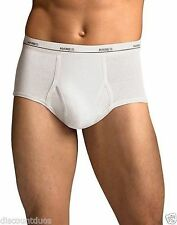 5-Pack Hanes Big Men's TAGLESS No Ride Up White Briefs Sizes 3X - 5X